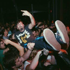Danny B crowd surf by Josh Allen