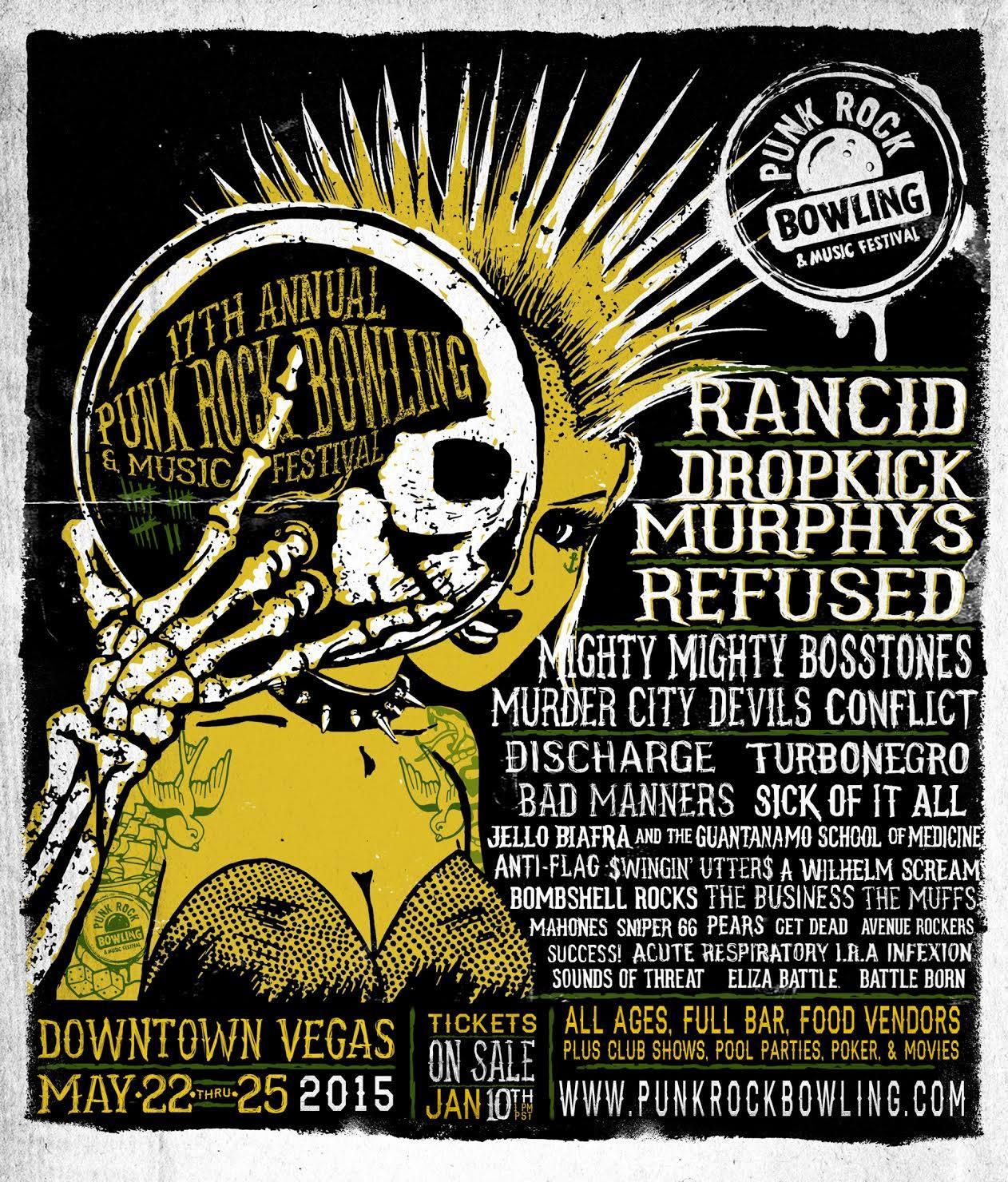 Punk Rock Bowling Festival LIneup