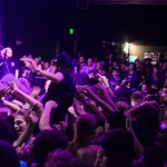 Adolescents stage dive