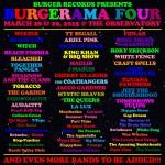 Burgerama 4 Lineup