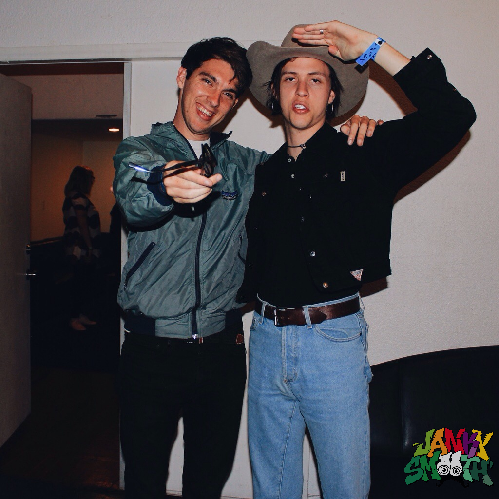 Barry of Joyce Manor and Wyatt of The Garden backstage