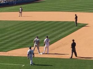 Dodgers Joc Pederson on the base path