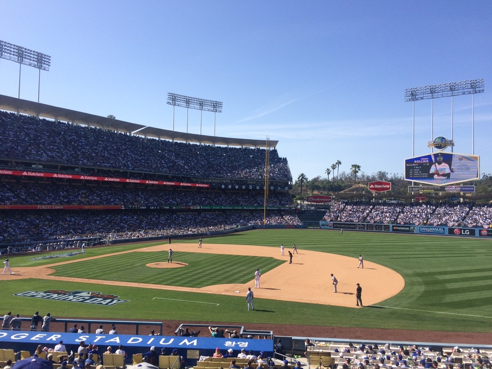 Dodgers Stadium Opening Day 2015
