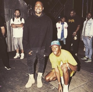 Tyler and Kanye Photo Bomb shot by Grady Brannan