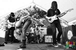 Kim and the Created at Echo Park Rising 4 by Mitch Livingston