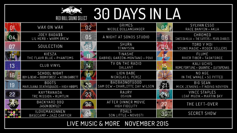 30 Days in LA Performers and Venues