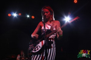Clementine Creevy of Cherry Glazerr at Burger-a-go-go