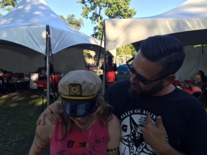Donita Sparks and Danny Baraz at Riot Fest Chicago 2015