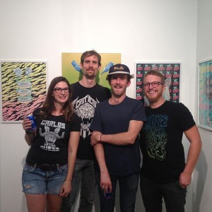Cahill Wessel and Chris Rexroad at their opening for Faded Glory