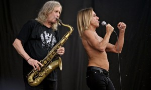 Steve Mackay with Iggy and the Stooges by Rex Shutterstock