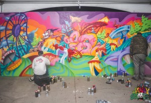 Bombing Walls at The Sports Arena