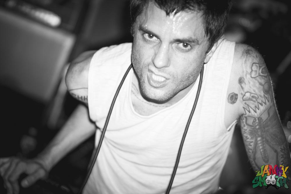 Justin Pearson of Retox at Teragram Ballroom shot by Josh Allen