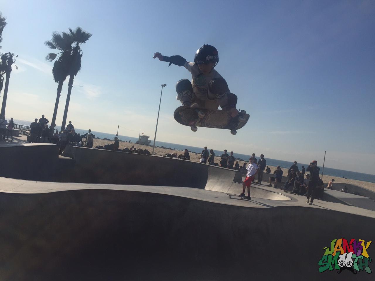 Kiko Francisco Blasting Over the Hip at Makaha Bowl Jam and Food Drive