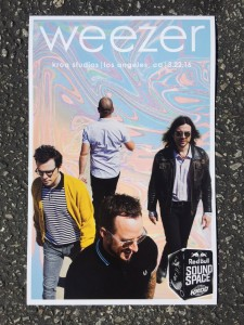 Weezer Poster Red Bull Soundspace