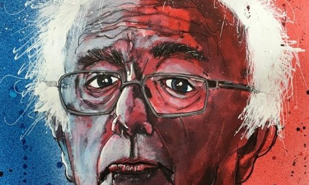 Bernie Sanders Art by Joey Feldman