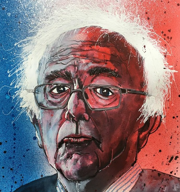 Bernie Sanders Art by Joey Feldman