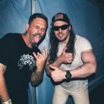 Danny B and Andrew W.K at Riot Fest