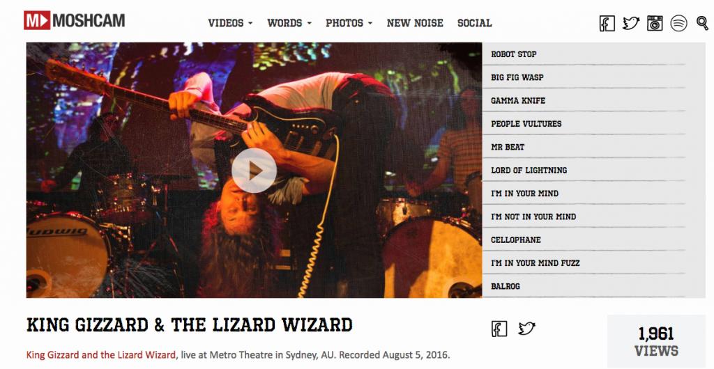 Moshcam King Gizzard & the Lizard Wizard Jam