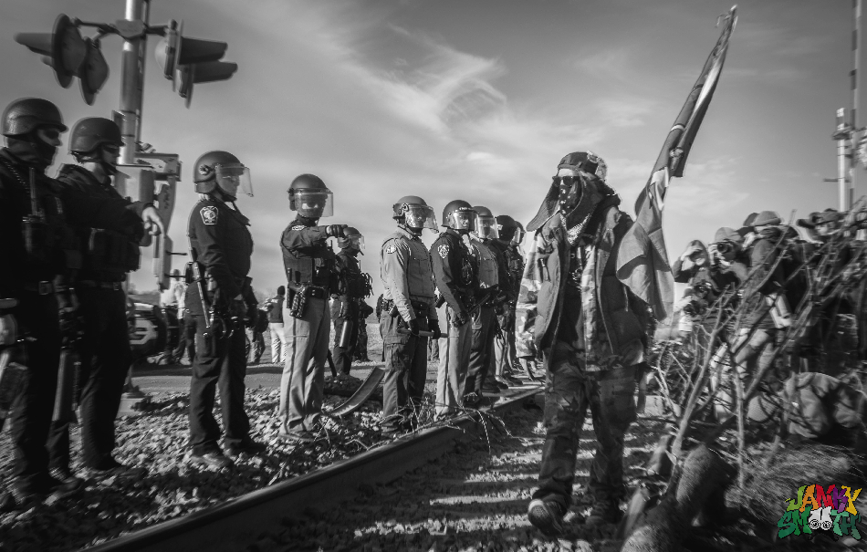 Militarized Police for DAPL by Berry Ward