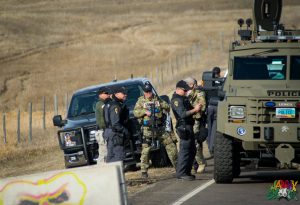 DAPL Police Tank by Berry Ward