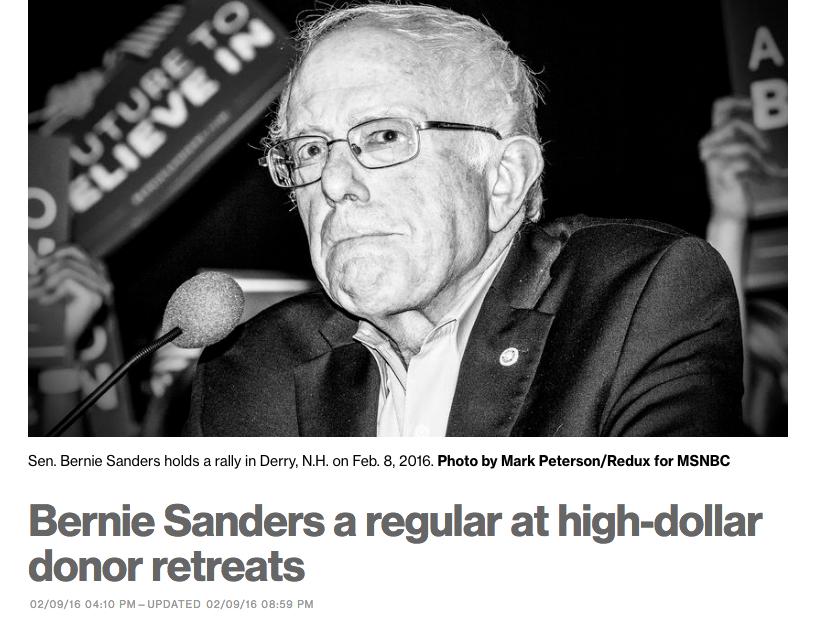 Bernie MSNBC Headline