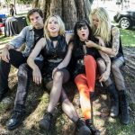 Death Valley Girls backstage at Burger Boogaloo