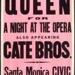 poster- Queen at the Santa Monica Civic