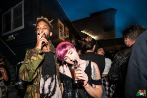 Ho99o9 fans at The Shed