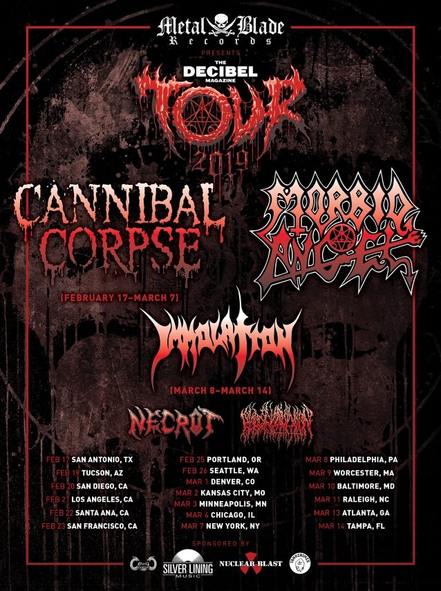 Take This: Win 2 Tickets to Cannibal Corpse and Morbid Angel